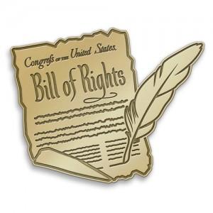 Bill of Rights Day Lapel Pins - Signature Pins